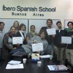 Simon's Spanish class at Ibero
