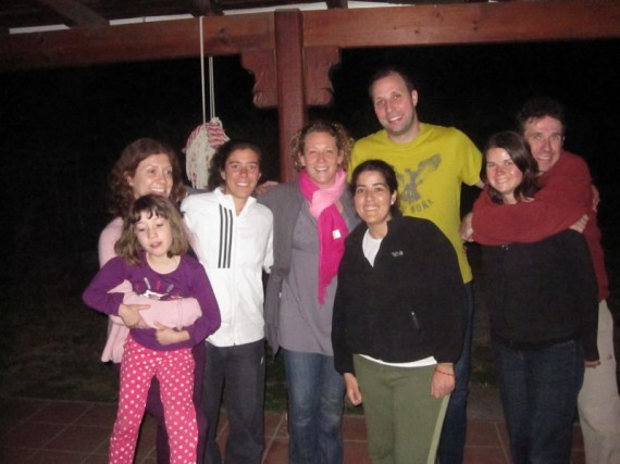 Our hosts and new friends at the couchsurfing dinner
