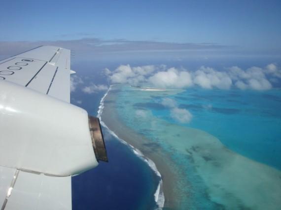 Flying Over Aitutaki
