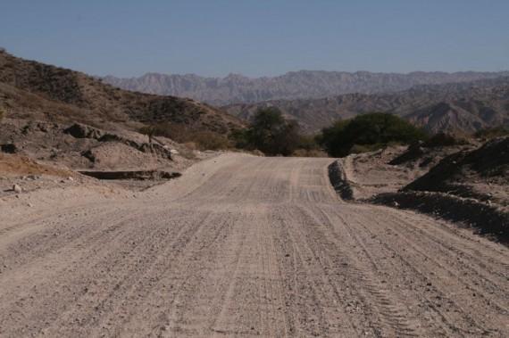 Gravel road Cafayate to Cachi