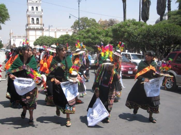 Parade in Sucre Plaza