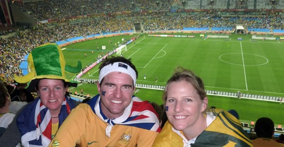 Kirsty at the World Cup 2010