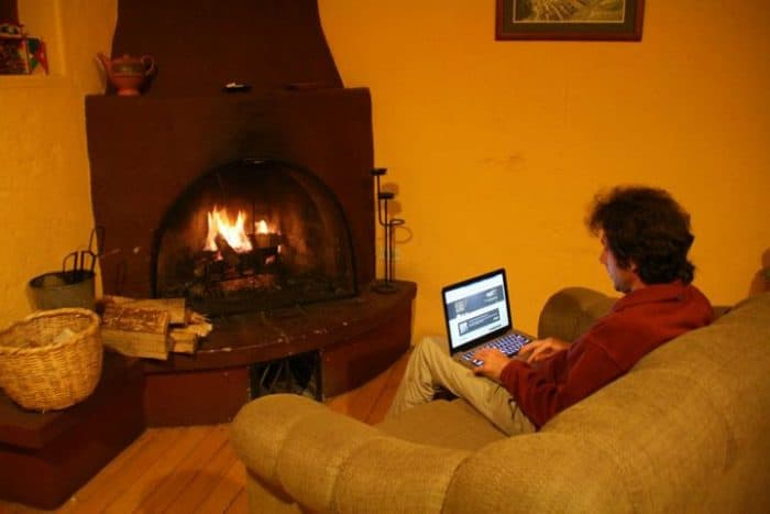 Latest digital nomad office in the mountains