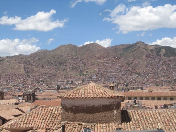 View from our hotel in San Blas, Cusco