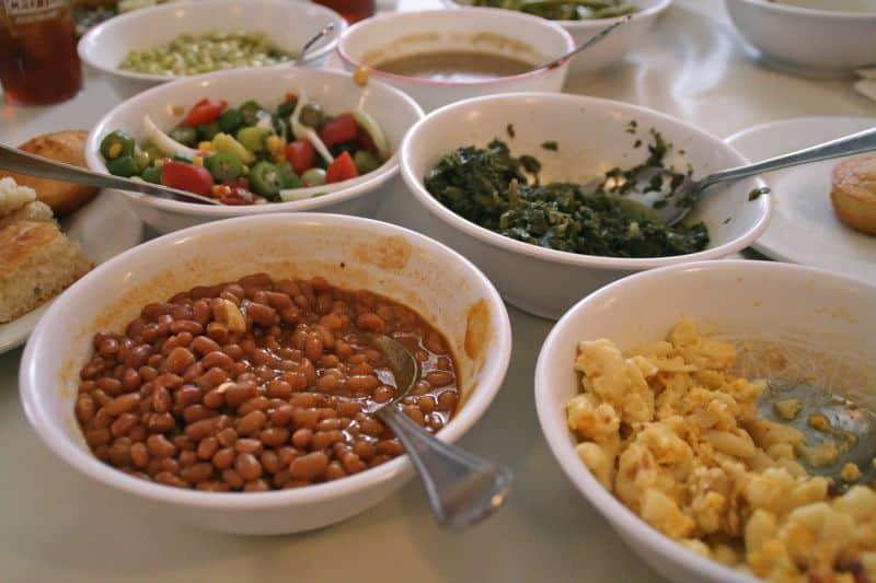 Delicious veggies at Mrs Wilkes' Dining Room, Savannah