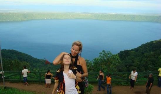Lainie and Miro at Laguna Apoyo, Nicaragua