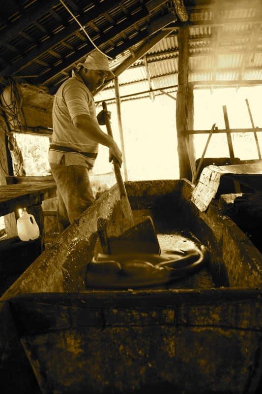 Stirring sugar, Costa Rica Trapiche