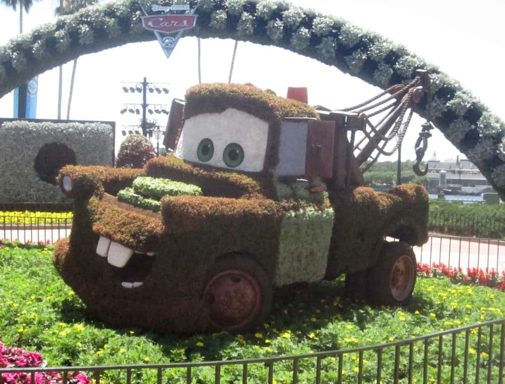 Tow Mater at Disney's Epcot