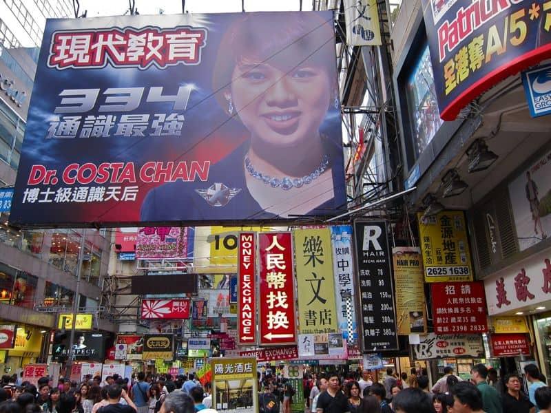 Mong Kok streets, Hong Kong