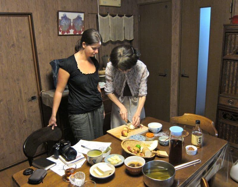 Uzuki cooking class, Kyoto