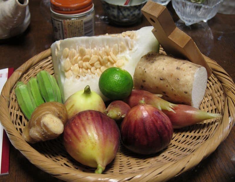 Uzuki cooking class ingredients