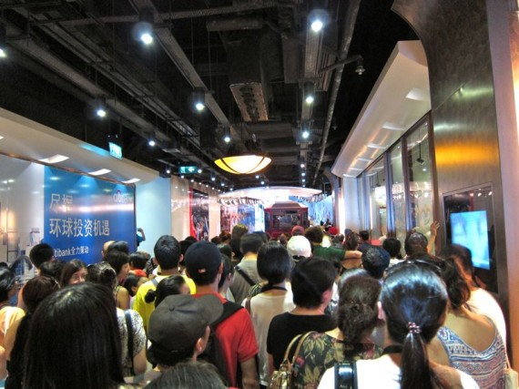 Queue for the tram to The Peak