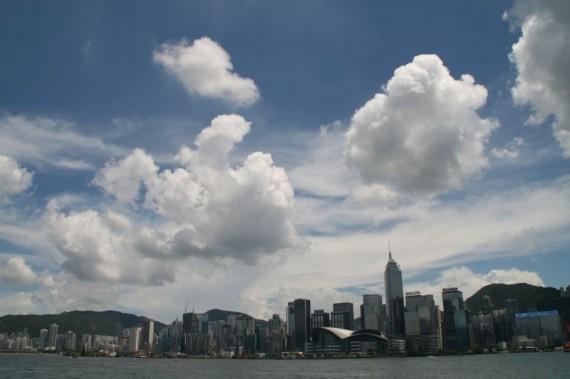 Hong Kong Island view from Star Ferry
