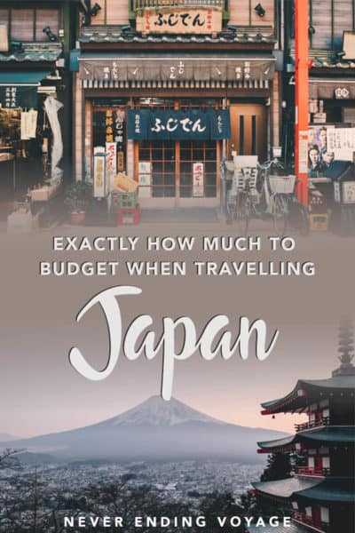Exactly how much to budget for your trip to Japan | japan budget, japan travel costs