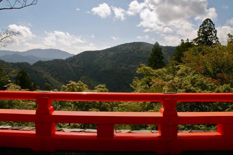 The view at Kurama-dera temple in Kyoto