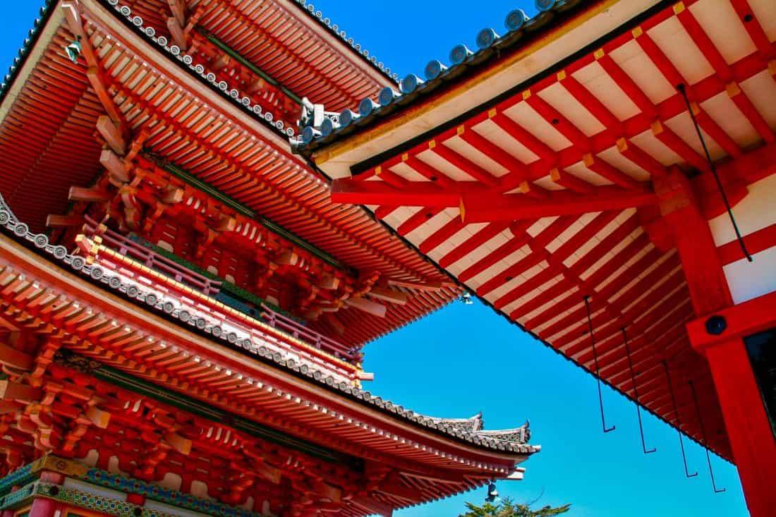 Pagoda at Kiyomizu-dera temple in Kyoto