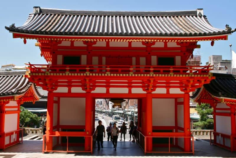 Yasaka jinja torii gate, Kyoto