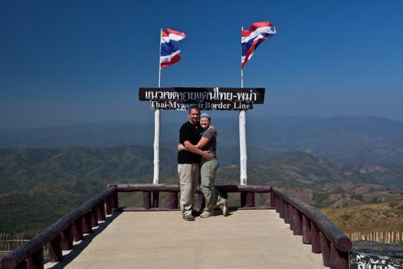 Dave & Deb at the Thailand-Myanmar Border