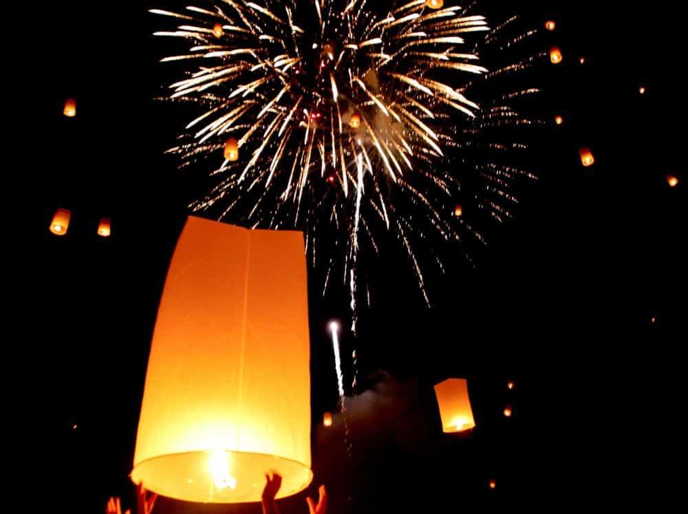 Fireworks at Yee Peng, Chiang Mai