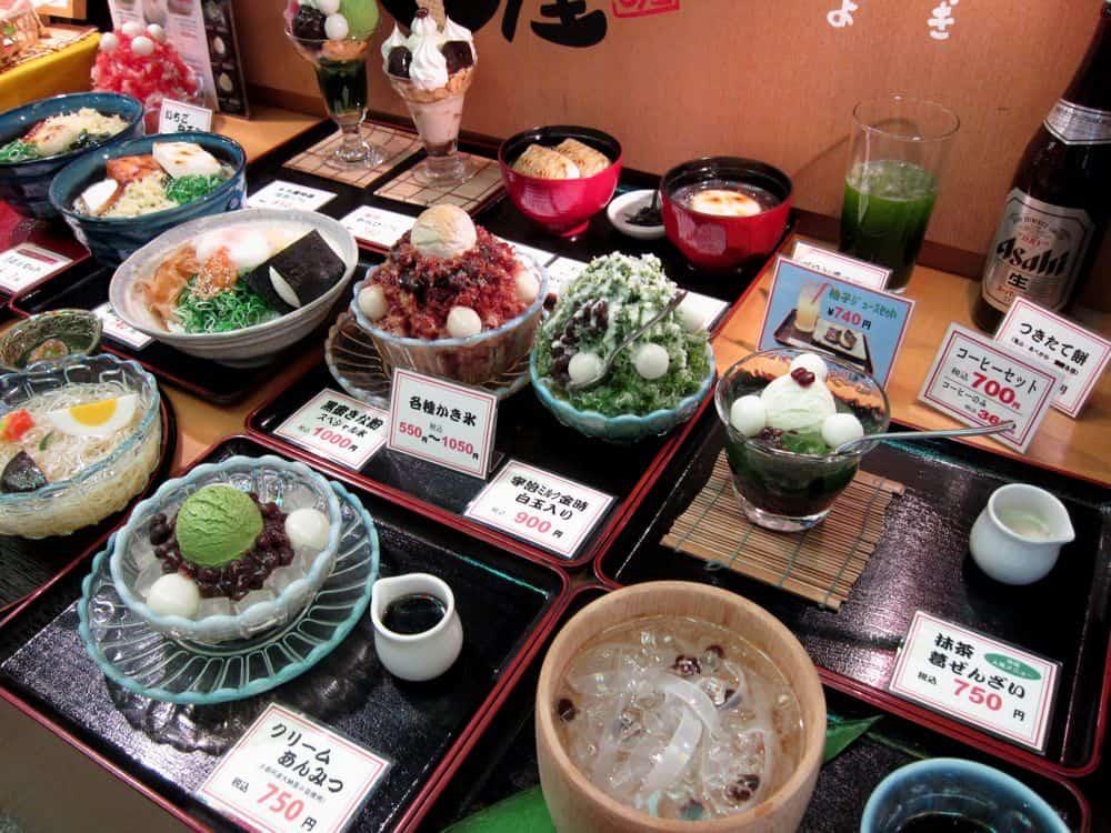 Plastic food models, Japan
