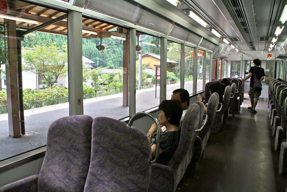 Scenic train to Kurama