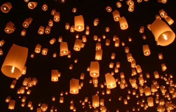 Yee Peng lantern release