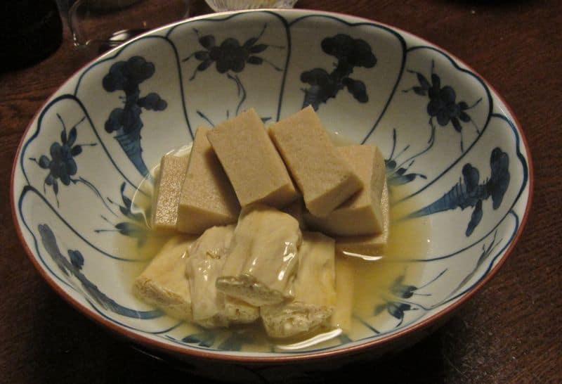 Koyadofu and yuba, vegetarian Japanese fooods