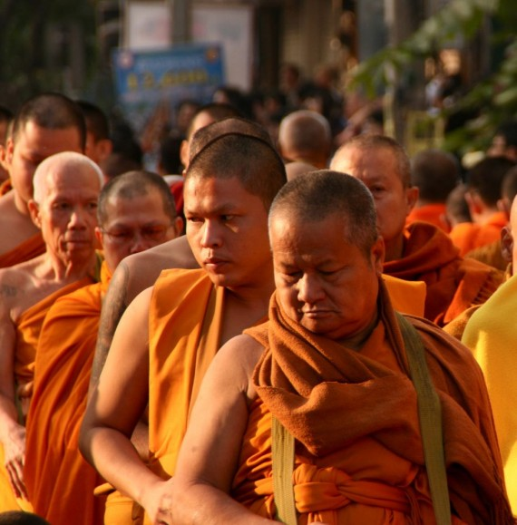 Serious expressions of 12,600 monks, Chiang Mai