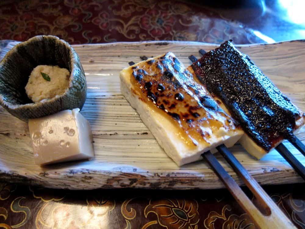 Dengaku tofu is great for vegetarians