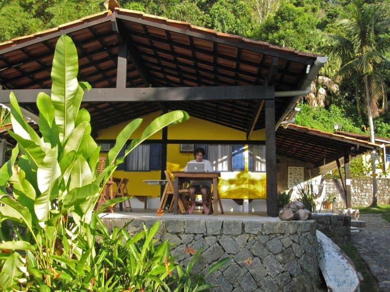 Simon's digital nomad office in Brazil