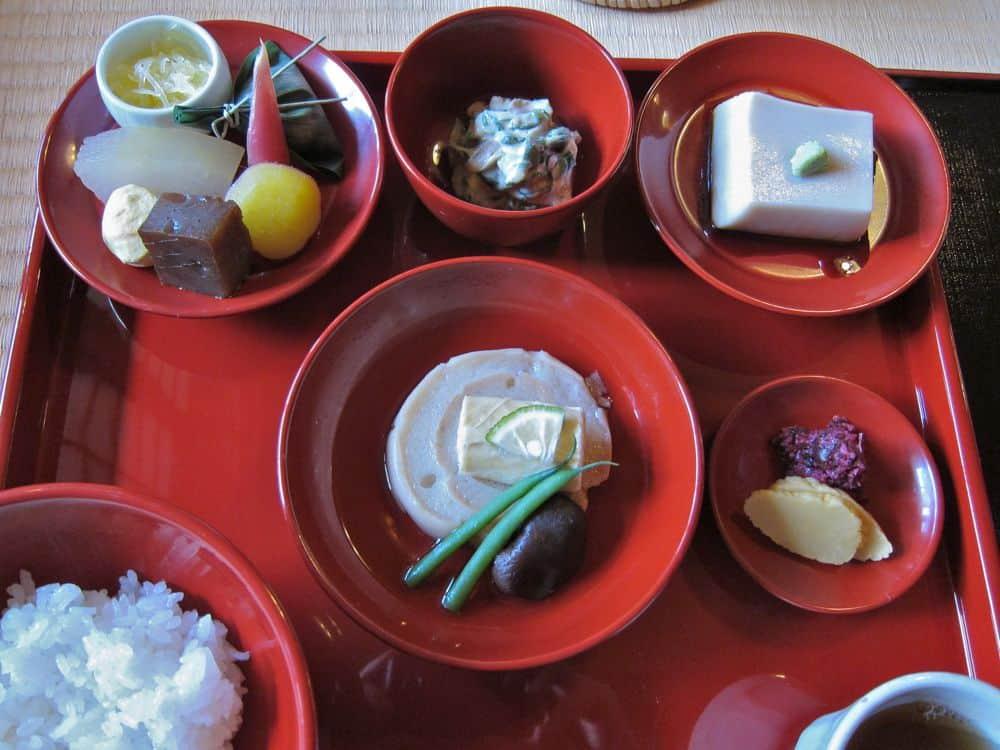 Shojin Ryori lunch at Shigetsu, Tenryuji Temple, Kyoto