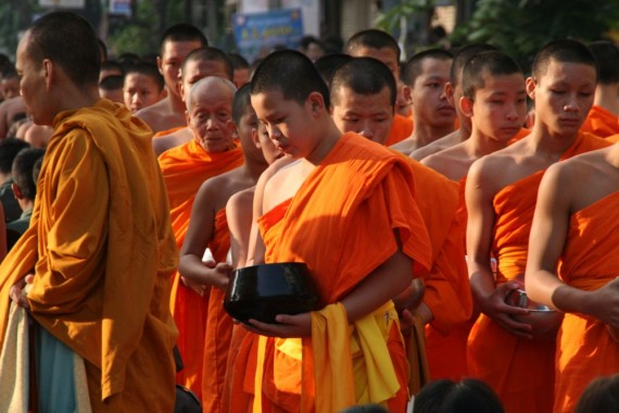 Young and old monks, Chiang Mai