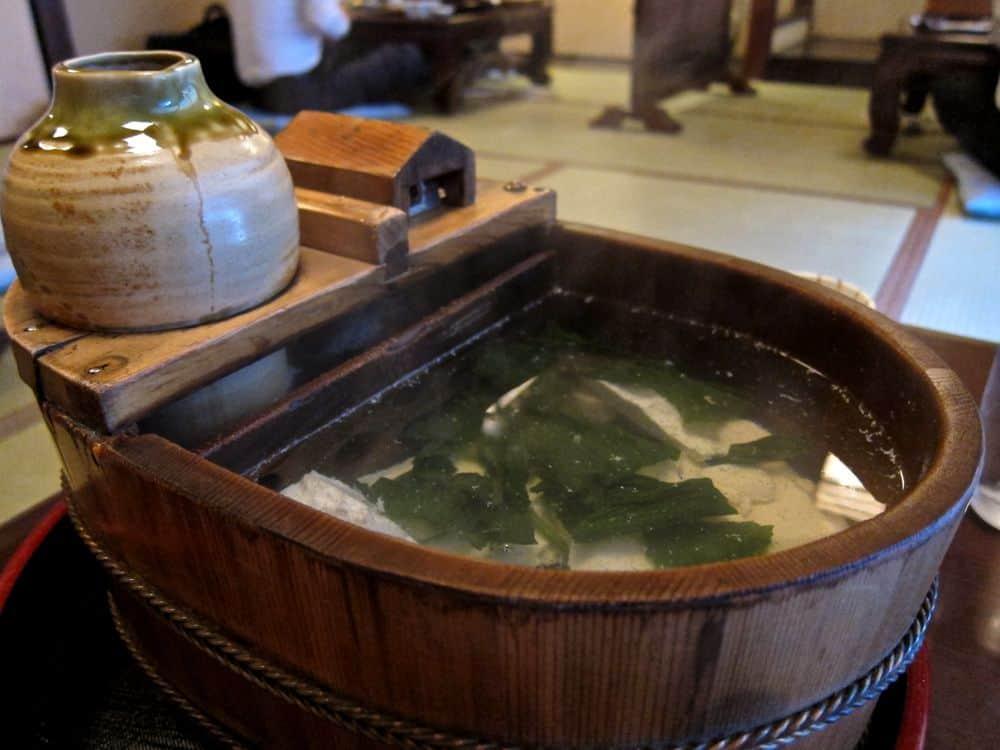 Yudofu in Kyoto, Japan