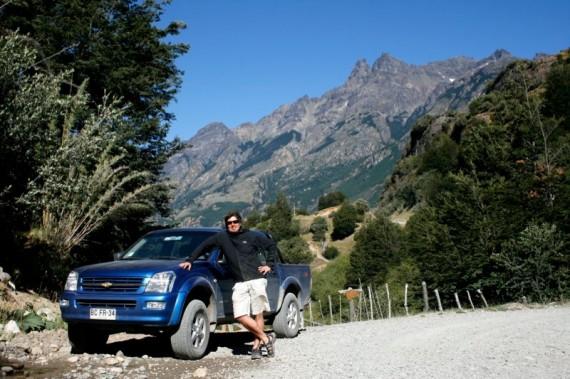 Jeff driving the Carretera Austral, Patagonia