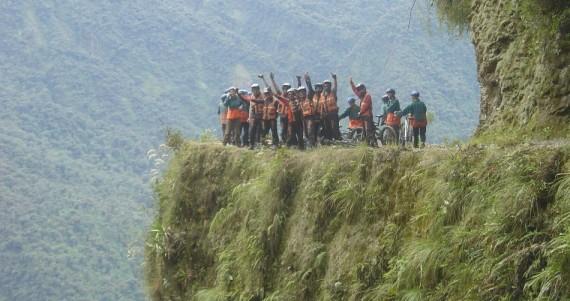 Mountain biking down the Dangerous Road, Bolivia