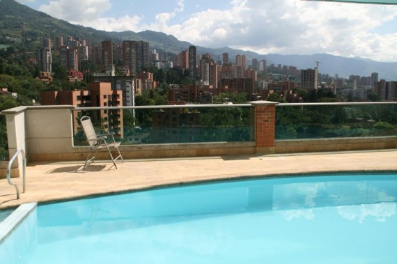 Pool in our Medellin Apartment Building