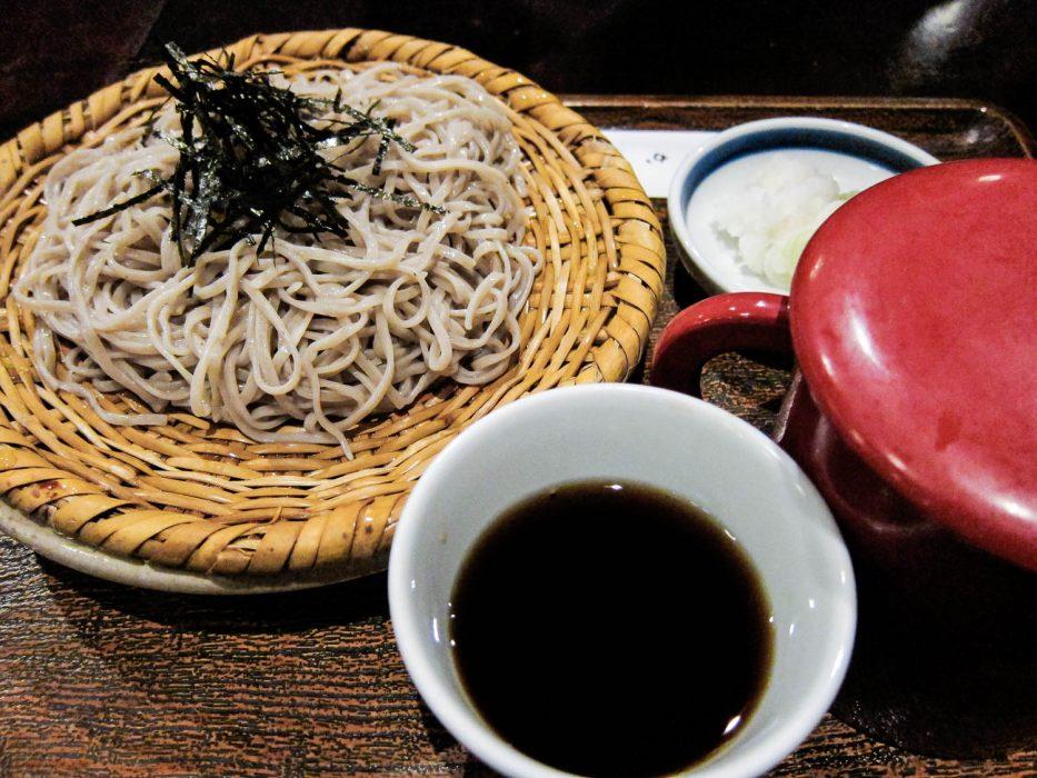 Zaru Soba, a Japanese vegetarian food