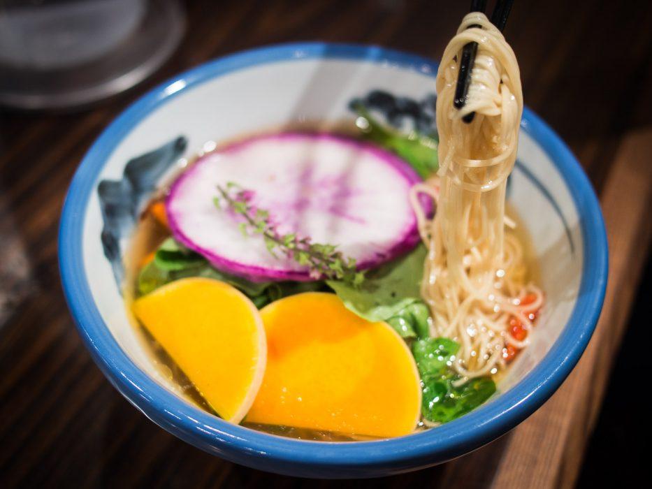 Vegetarian ramen at Afuri, Tokyo