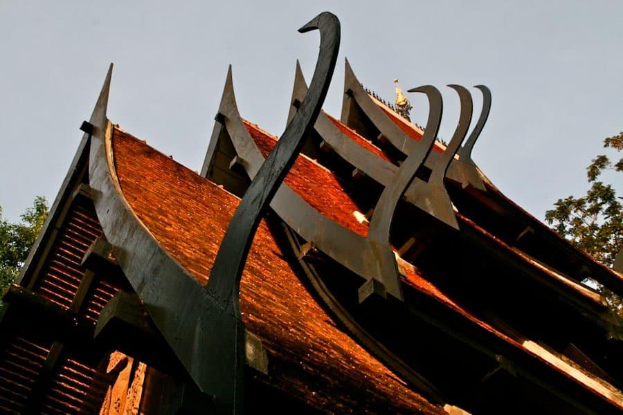 Vihara roof, Black House, Chiang Rai, Thailand