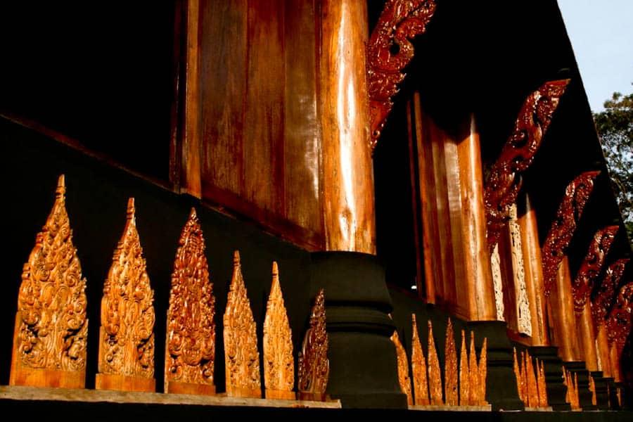 Vihara detail, Black House, Chiang Rai, Thailand