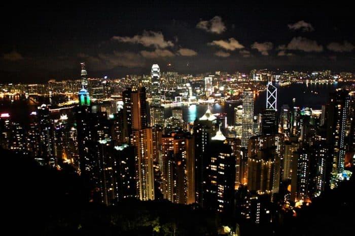 Hong Kong from The Peak at Night