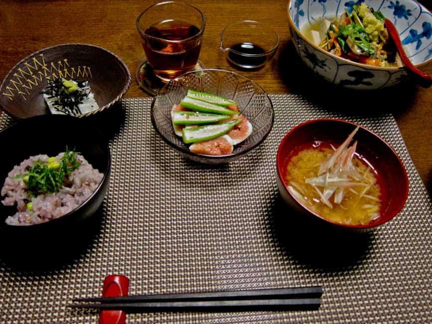 Meal at Uzuki Cooking Class, Kyoto