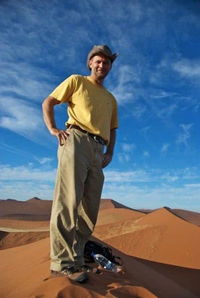 Mike Hodson in Namibia