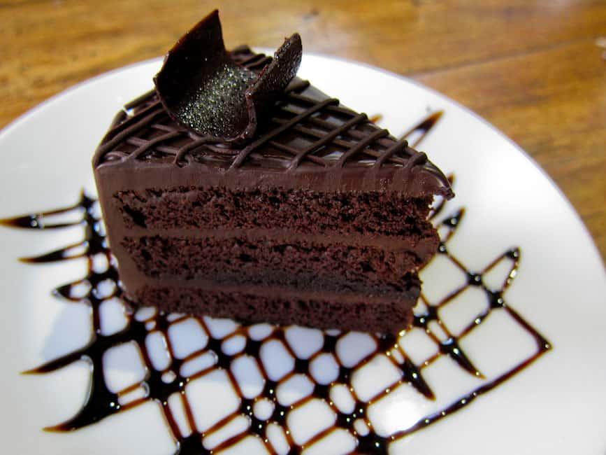 Charcoa Cafe chocolate cake