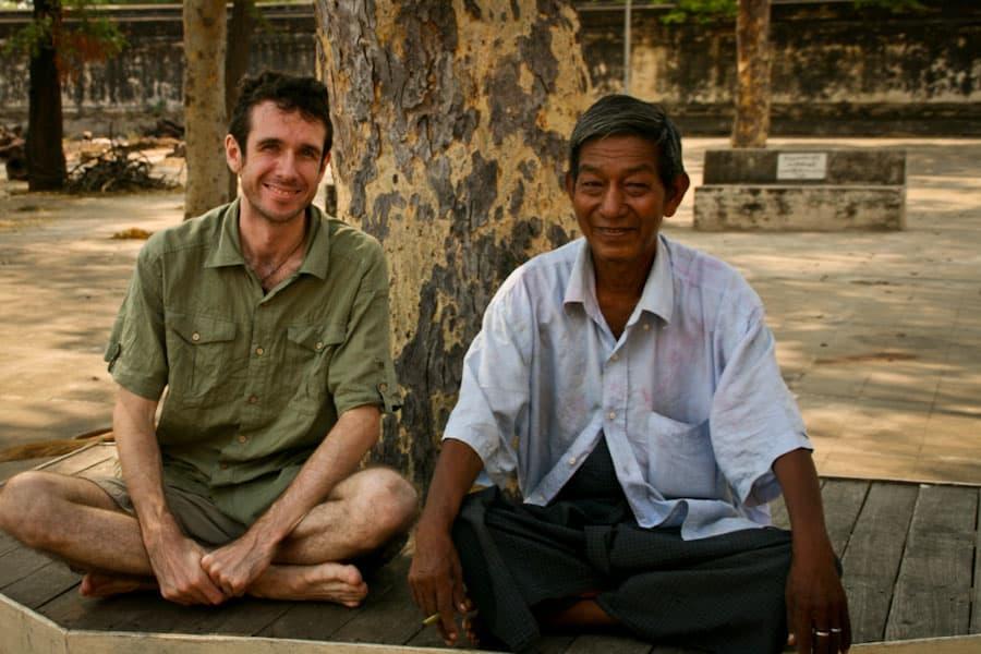 Simon meeting a local in Burma