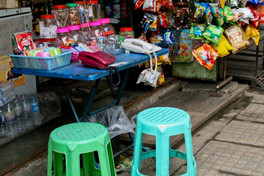 Telephone stall Burma