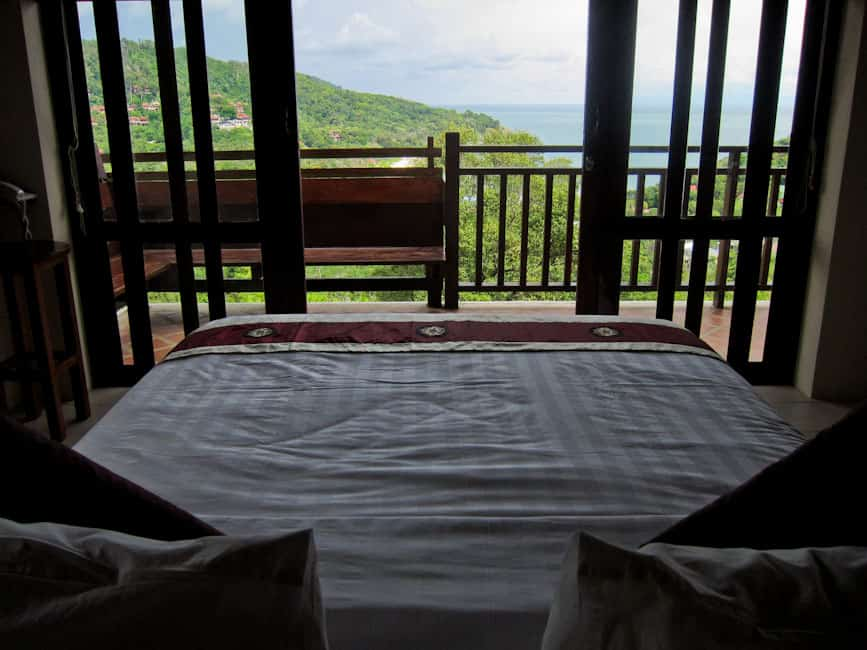 View from our bedroom at Baan Kantiang See