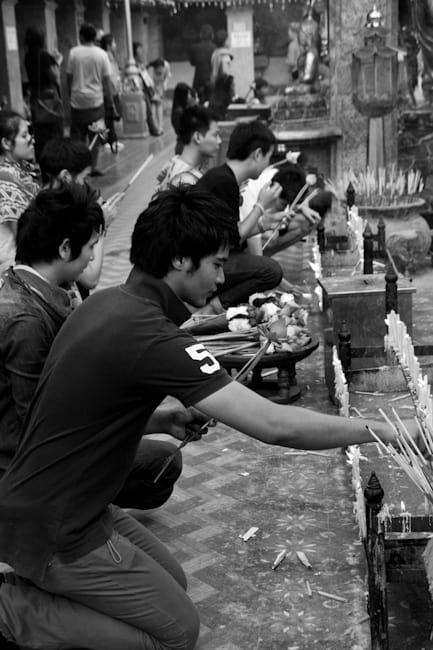 Wat Doi Suthep lighting incence