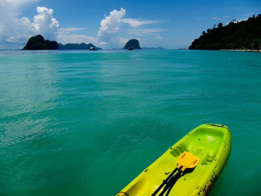 Kayaking at Koh Ngai