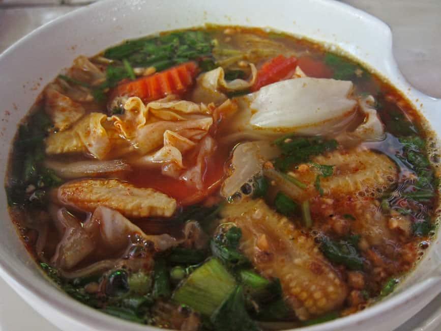 Tom Yam Vegetable Noodle soup, Drunken Sailors